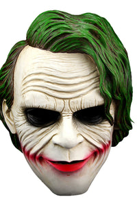 Joker Máscara Pelo verde Clown Máscara Halloween Villain Cosplay Accesorios
