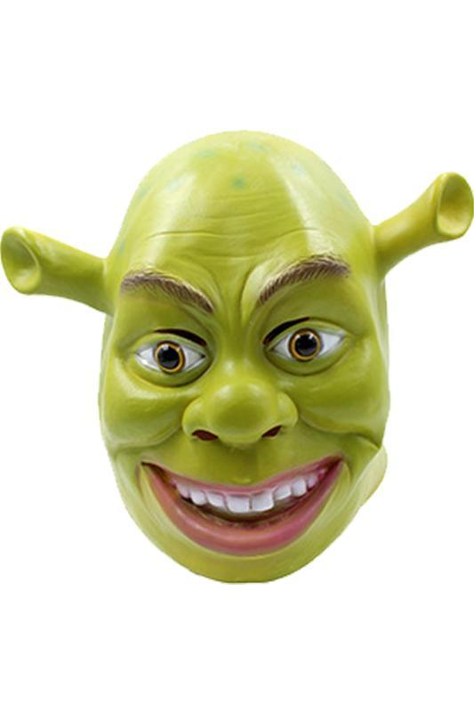 Shrek Máscara Cosplay Cabeza Llena Latex Casco Verde