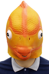 Goldfish Máscara Animal Latex Máscaras Halloween Cara Completa Máscara Adulto Cosplay Accesorios