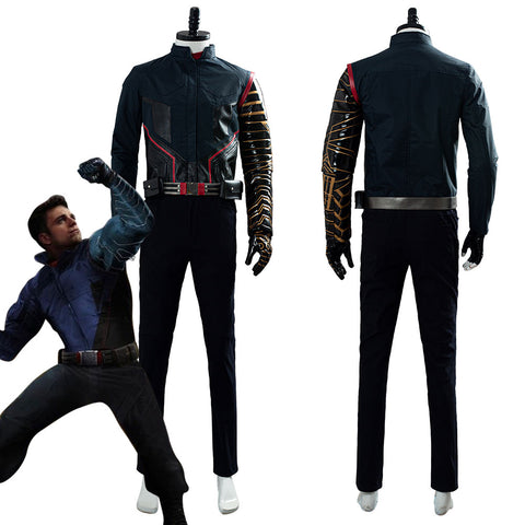 2020 Película The Falcon and the Winter Soldier Buggy Uniforme de Batalla Cosplay Disfraz