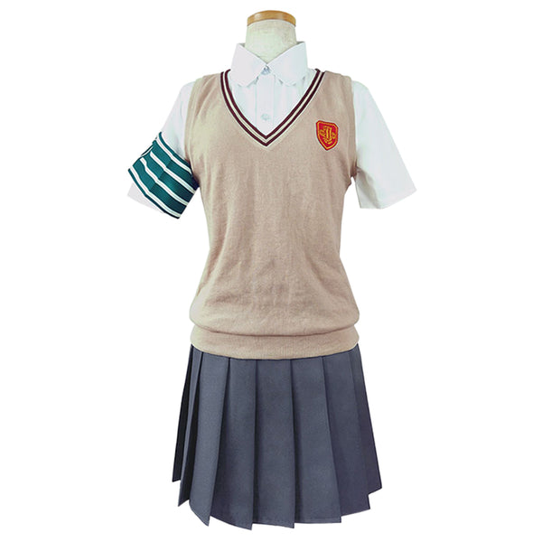 Anime A Certain Scientific Railgun Misaka Mikoto/Shirai Kuroko Uniforme Escolar de Halloween o Carnaval Cosplay Disfraz