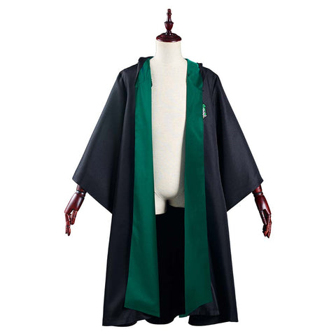 Harry Potter Slytherin Magic Gown Robe Toga Mágica de Halloween o Carnaval Cosplay Disfraz