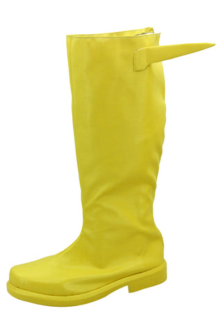 DC Hero The Flash Barry Allen Yellow Cosplay Zapatos botas