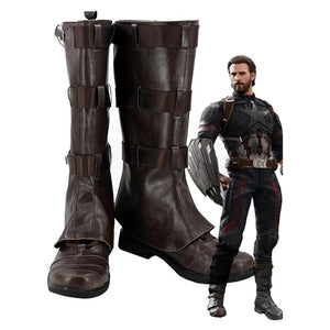 Avengers Infinity War Captain America Steven Rogers Cosplay Zapatos botas