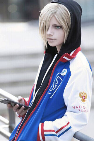 Yuri on Ice Yuri Plisetsky Cosplay Disfraz + Zapatos + Peluca