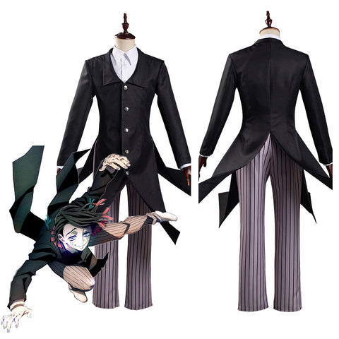 Kimetsu no Yaiba Movie: Mugen Ressha-hen/Demon Slayer Movie: Mugen Train Enmu Traje de Halloween o Carnaval Cosplay Disfraz