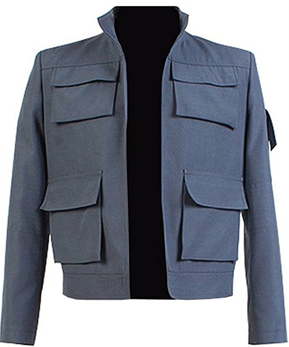 La Guerra de las Galaxias (Star Wars): Empire Strikes Back Han Solo Chaqueta Cosplay Disfraz