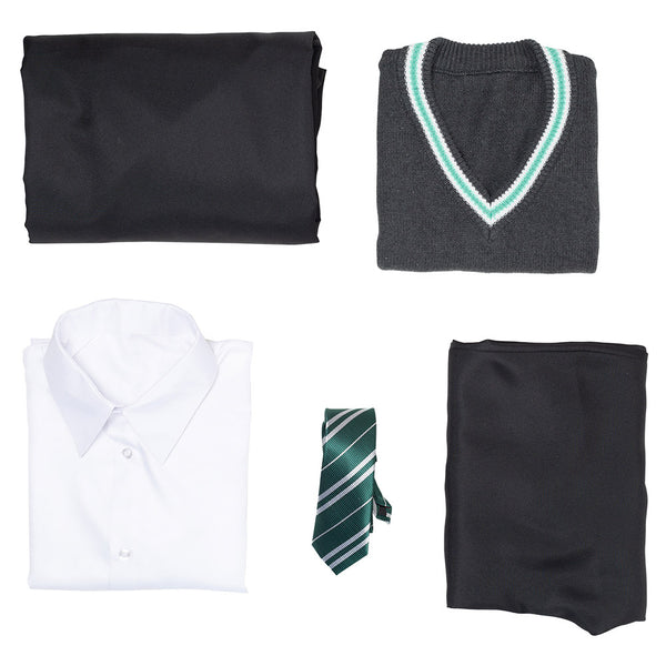 Harry Potter Uniforme Escolar Slytherin Traje de Halloween o Carnaval Cosplay Disfraz