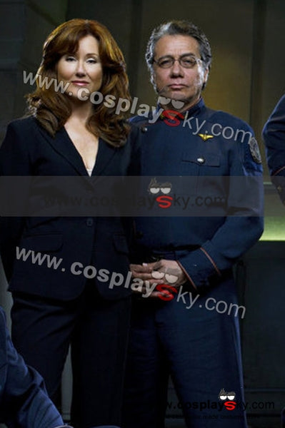 Galáctica Estrella de Combate William Adama Uniforme Cosplay Disfraz