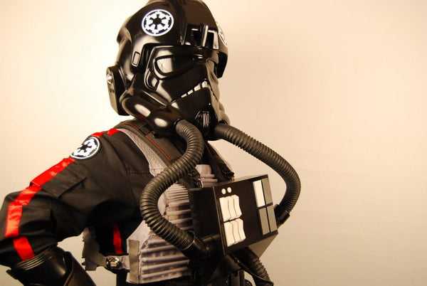 Star Wars Imperial Piloto de TIE Fighter Mono Negro Uniforme Cosplay Disfraz Versión B