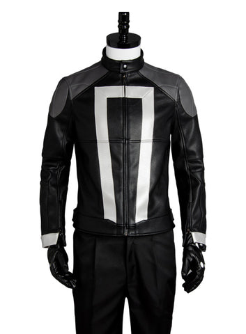 Agents of Shield S.H.I.E.L.D Ghost Rider Chaqueta Cosplay Disfraz