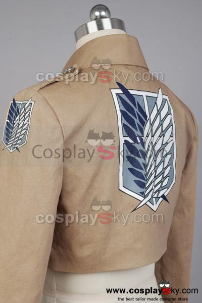 Attack on Titan Shingeki no Kyojin Recon Corps Scouting Legion Chaqueta disfraz
