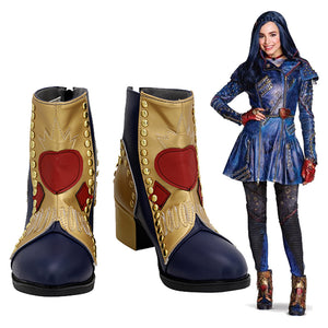 Descendants 3 Evie Botas de Halloween Cosplay Zapatos