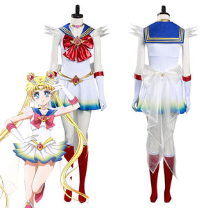 Sailor Moon Eternal Tsukino Usagi Vestido de Halloween o Carnaval Cosplay Disfraz