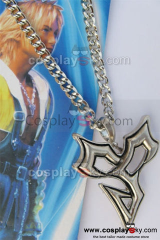 Final Fantasy X Tidus Charm Colgante Metal Cosplay