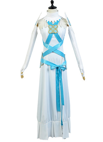 Fire Emblem Fates If Birthright Azura Aqua Vestido Cosplay Disfraz