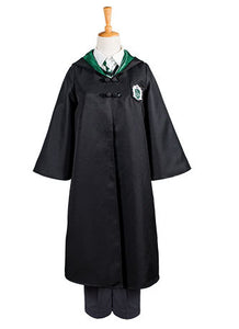Harry Potter Slytherin Uniforme Draco Malfoy Solo Capa Cosplay Disfraz