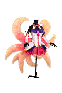 LoL League of Legends Star Guardian Ahri Soraka Vestido Traje Cosplay Disfraz