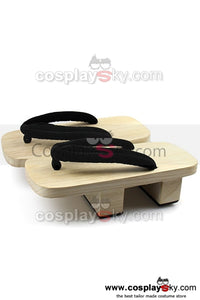 Japanese Geta Anime Bleach Cosplay Sandals Clogs Slipper Shoes