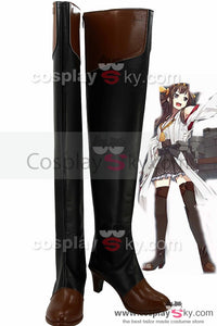 Kantai Collection Barco de guerra japonés Kongō Botas Cosplay Zapatos