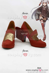 Kantai Collection Destructor Japonés Amatsukaze Botas Cosplay Zapatos