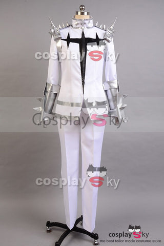 KILL la KILL Ira Gamagoori Forma Final Uniforme Blanco Cosplay Disfraz