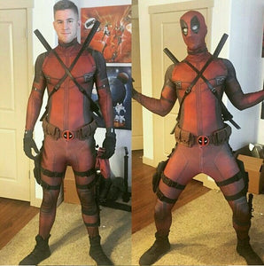 Marvel Comics Deadpool Cosplay Disfraz Versión B