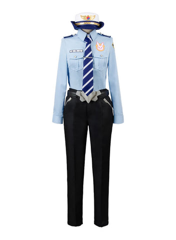 Overwatch D.VA DVA Hana Song Police Officer Uniforme Cosplay Disfraz