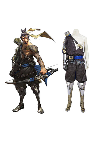 Overwatch OW Hanzo Traje Whole Set Cosplay Disfraz