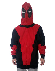 X-Men Deadpool Rojo Negro Sudadera Cosplay Disfraz