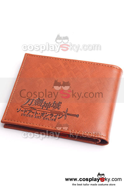Sword Art Online Kirito Sword Cosplay Wallet Purse