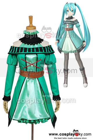 Vocaloid Project DIVA-F 2nd Miku Cosplay Costume