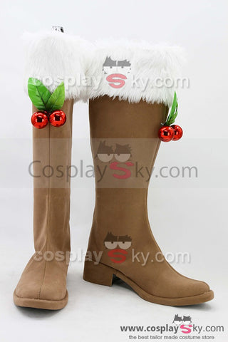 Vocaloid Snow Miku Botas Cosplay Zapatos