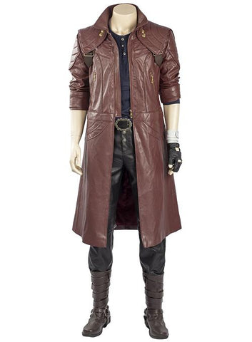 Devil May Cry 5 Dante Traje Trenchcoat Cosplay Conjunto Completo