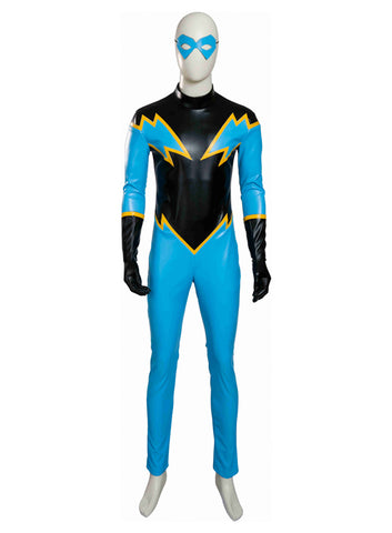 Young Justice Black Lightning Traje Cosplay Disfraz