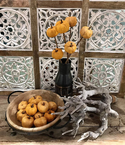 Image of Artificial Small Pumpkins Decorating for Fall, Thanksgiving Decor for Table, or Farmhouse Fall Decor - Farmhouse World