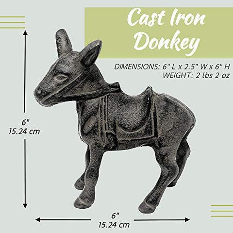 Cast Iron Donkey Southwestern Decor for Home - Farmhouse World