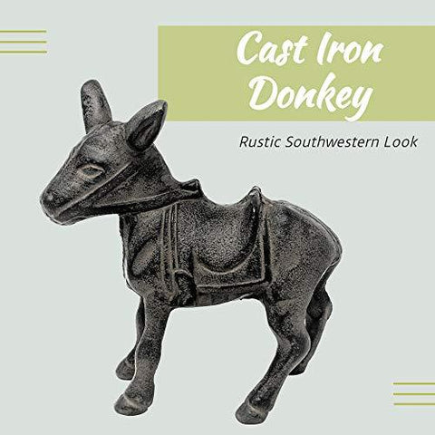Image of Cast Iron Donkey Southwestern Decor for Home - Farmhouse World