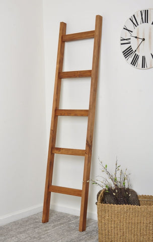 "Chunky Blanket Ladder Light Brown - 6ft Tall - 17.5"" Wide - Made in USA - Farmhouse World"
