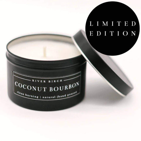 Coconut Bourbon Soy Candle 8oz - 100% Soy Wax - Hand Poured - Farmhouse World