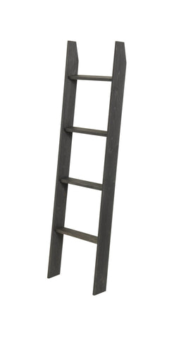 "Decorative Blanket Ladder Black Stained - 5ft Tall - 20"" Wide - Made in USA - Farmhouse World"