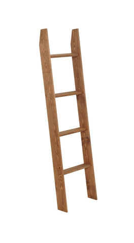 "Decorative Blanket Ladder Lucus Walnut - 5ft Tall - 20"" Wide - Made in USA - Farmhouse World"