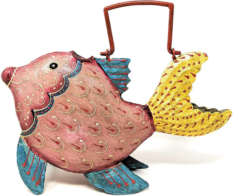 Goldfish Metal Watering Can - Fun, Cheerful, and makes a Great Gift - Farmhouse World