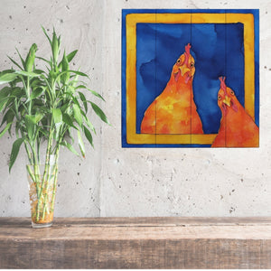 Hoping for a Handout Rooster Wall Art | Rooster Painting on Wood - Farmhouse World