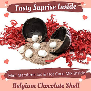 Hot Chocolate Bombs with Marshmallows | Handcrafted with Belgian Chocolate - Individually Boxed - Farmhouse World