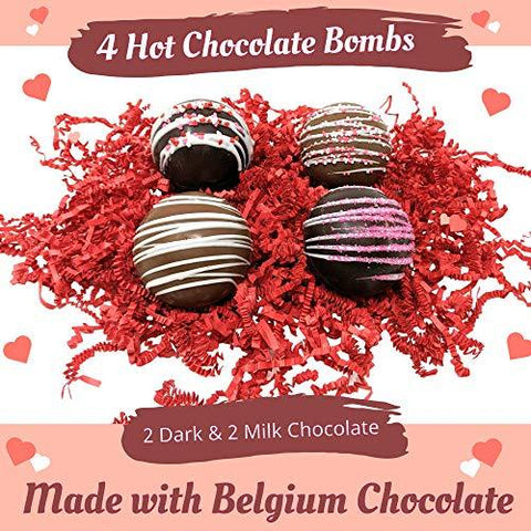 Image of Hot Chocolate Bombs with Marshmallows | Handcrafted with Belgian Chocolate - Individually Boxed - Farmhouse World