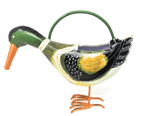 Mallard Duck Watering Can - Solid Metal - Decroative & Functional - Farmhouse World