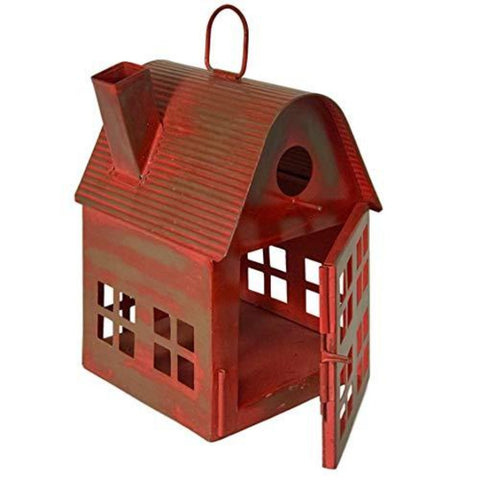 Image of Metal Bird House Decor | Decorative Bird Houses for Indoor or Outdoor Hanging | Farmhouse Country Decor BirdHouses - Farmhouse World
