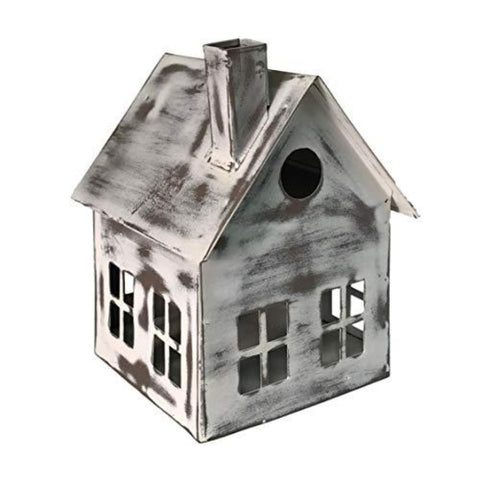 Metal Bird House Decor | Decorative Bird Houses for Indoor or Outdoor Hanging | Farmhouse Country Decor BirdHouses - Farmhouse World