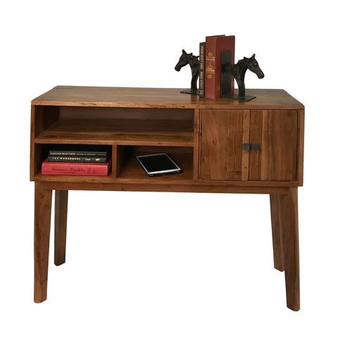 Image of Mid-Century Console/Buffet Table in Farmhouse Style Made from Solid Acacia Wood for Home and Office - Farmhouse World